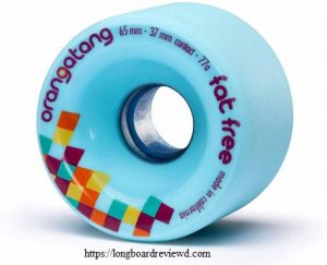 Orangatang Fat-Free 65 mm Freeride Longboard Skateboard Wheels
