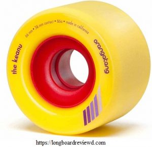 Orangatang Keanu 66 mm Freeride Longboard Skateboard Wheels