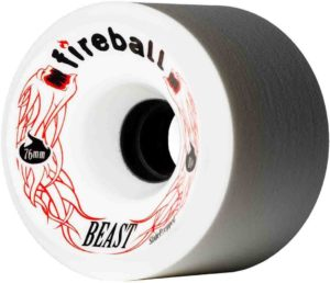 Fireball Beast 76mm Longboard Skateboard Wheels