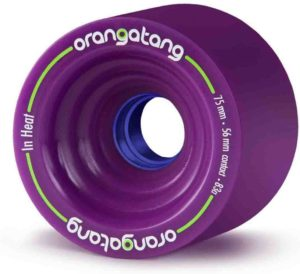 Orangatang in Heat 75 mm Downhill Longboard Skateboard Cruising Wheels