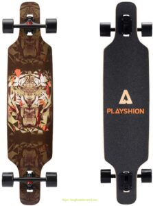 2. Playshion Drop Through Freestyle Longboard Skateboard Cruiser