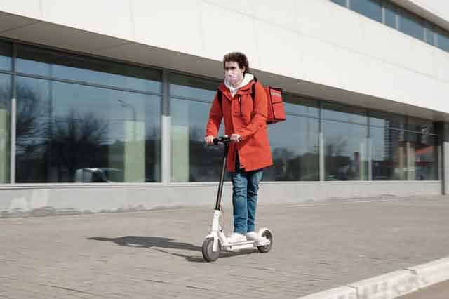 can you ride a kick scooter on the sidewalk?